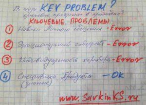 Какие ключевые проблемы менеджера по продажам