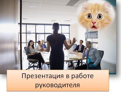Презентация в работе руководителя