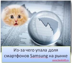 Из-за чего упала доля смартфонов Samsung на рынке