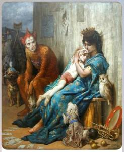 """""""Семья акробатов"""", 1874, написал Гюстав Доре"""