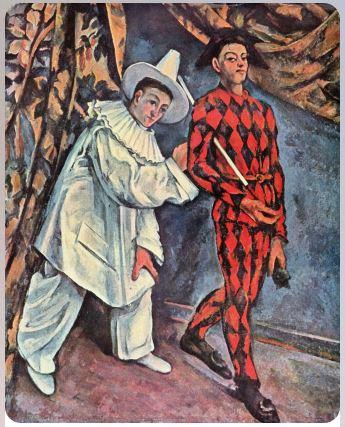 Пьеро и Арлекин 1888 Поль Сезан