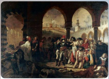 Гро, Антуан-жан : Бонапарт посещает чумной госпиталь в Яффе