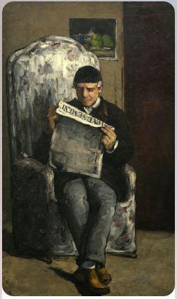Поль Сезанн : Отец художника, читающий «L'Evenement»