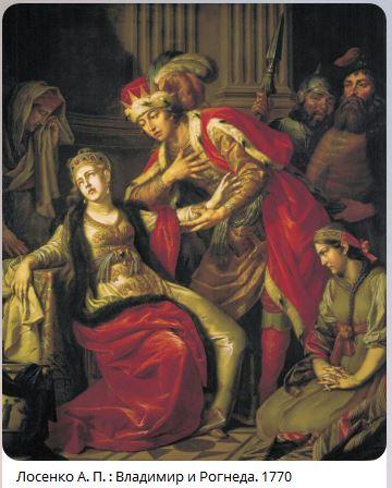 Лосенко А. П. : Владимир и Рогнеда. 1770