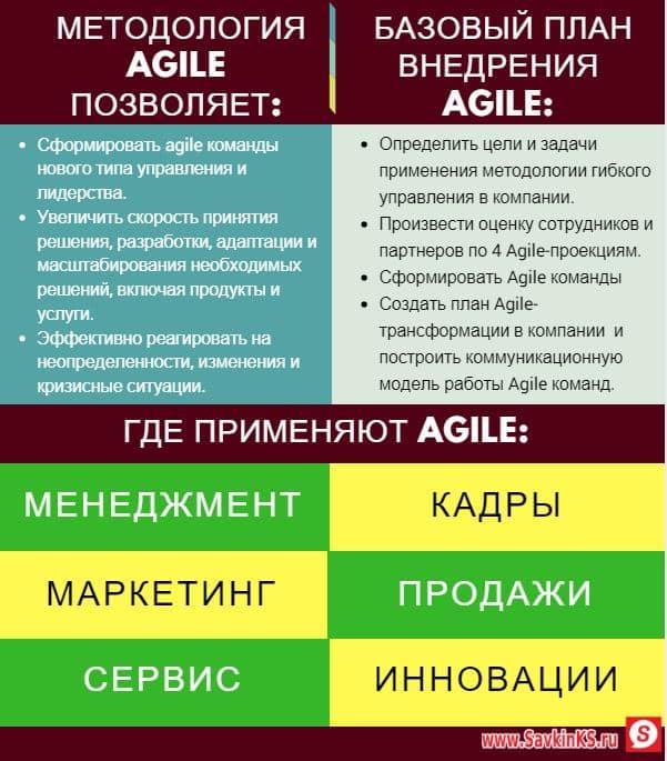 Применения методов гибкого управления в бизнесе