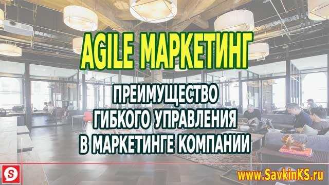 Agile маркетинг: Гибкое управление в маркетинге компании