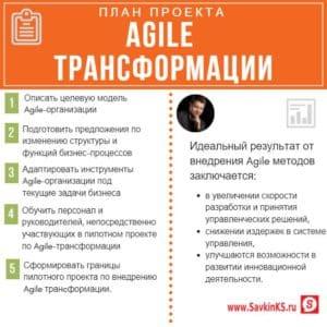 Ключевые этапы Agile трансформации
