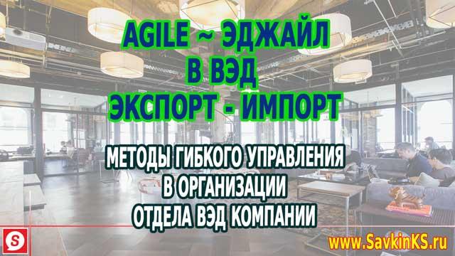 Agile в ВЭД, Эджайл экспорт и импорт