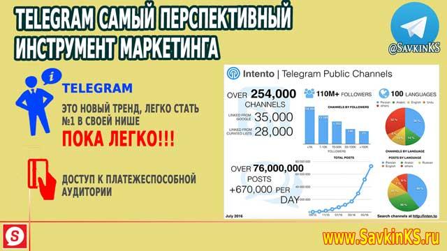 Маркетинг в компании и Telegram