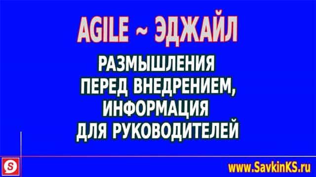 Agile: размышляем перед внедрением Эджайл