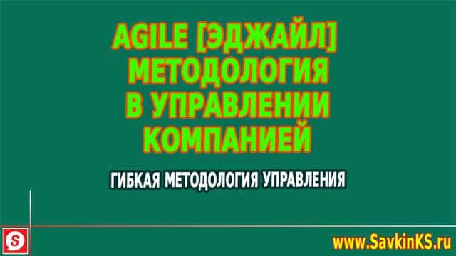 Agile методология в управлении компанией