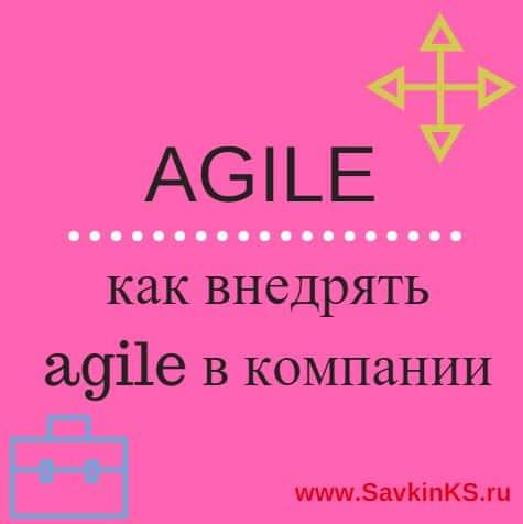 Специфика внедрения методов гибкого управления Agile